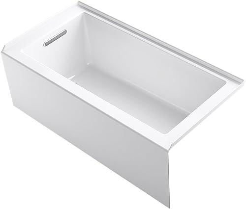 KOHLER 20201-LA-0 Underscore Bathtub, White