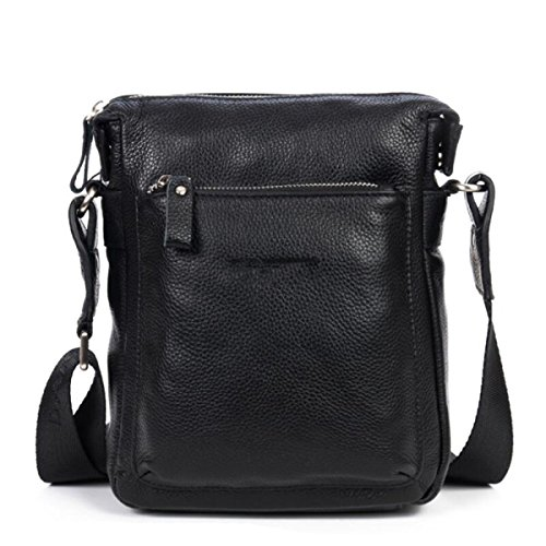 Leather Men Casual Fashion Package blackissmall Uomo Blackissmall Shoulder Bukuang Section Bag Vertical 1T8YYnqa