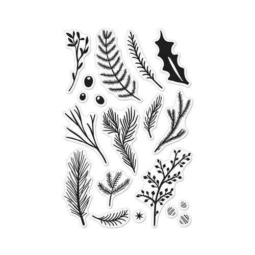 Hero Arts Holiday Pine Branches Design -