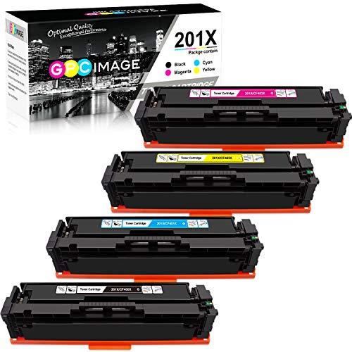 (GPC Image Compatible Toner Cartridge Replacement for HP 201X 201A CF400X CF401X CF402X CF403X CF400A Toner to use with Color Laserjet Pro MFP M277dw M252dw M277n M252n MFP M277c6 Printer (4-Pack))