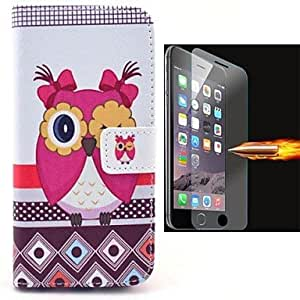 WQQ Birdie PU Leather Full Body Case with Explosion-Proof Glass Film for iPhone 6