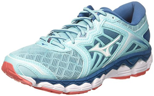 White para Wos Sky Running Mujer Hotcoral 01 Aquasplash Multicolor Zapatillas de Mizuno Wave Z6Rxwv