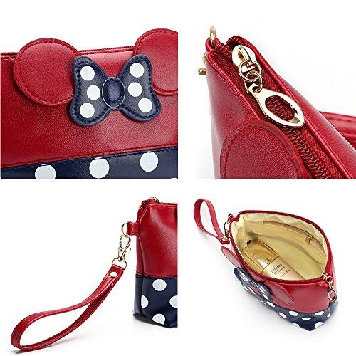 Tracy B Cartoon Leather Travel Makeup Handbag Cute