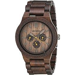 Wewood Men's Kappa Chocolate Wooden Watch