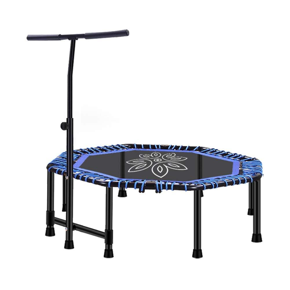 直営店に限定 大人の子供のためのフィットネスエクササイズ48″トランポリン - 青 調節可能なハンドルバーが付いている屋内屋外の折る跳ね上がりのベッド、忍耐容量225kg (色 : (色 - ピンク) B07PYY2RT1 青 青, 彩器:6e351859 --- arianechie.dominiotemporario.com