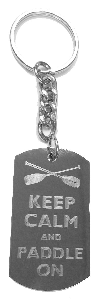 Amazon.com: Keep Calm And Paddle on – Anillo de metal clave ...