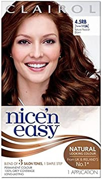 Nice N Easy Tinte de pelo marrón rojizo oscuro 5.5rb: Amazon ...