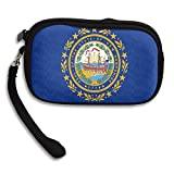 New Hampshire Flag Custom Zip Handbag Coin Purse Change Cash Wallet