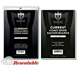 (100) Current Size RESEALABLE Ultra Clear Comic Book Bags and Boards - by Max Pro (Qty= 100 Bags and 100 Boards)