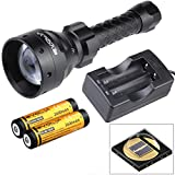 Evolva Future Technology Lens Infrared Flashlight IR T67 67mm Night Vision Torch Light - Infrared Light is Invisible to Human Eyes - To be used with Night Vision Device (Torch+Battery+Charger)