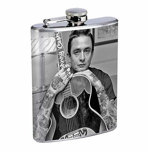 Cash Johnny Tattoo - Johnny Cash Tattoo 8oz Stainless Steel Flask Drinking Whiskey