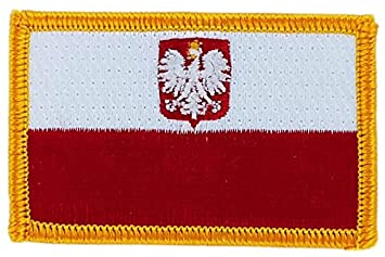 Aufnäher Patch bestickt, Flagge Polen polnischen Adler polska ...