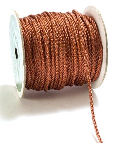 May Arts 4mm Wide Ribbon, Metallic Copper Cord