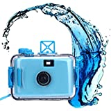 Hometom Waterproof Mini 35mm Film Camera Purple Underwater Cameras