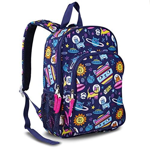 LONECONE Kids' Canvas Preschool Backpack - School Bag for Little Boys and Girls, Intergalacti-CAT
