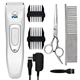 YIHONG Pet Clippers, Professional Cordless Electric Dog Clippers Rechargeable Dog Hair Clippers Low Noise Pet Trimmers Grooming Trimming Kit Tool Set
