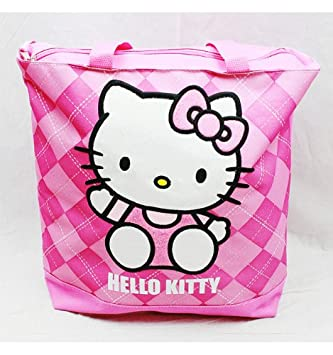 7854c86eb235 Tote Bag - Hello Kitty - Pink Checker New Gifts Girls Hand Purse 82074   Amazon.co.uk  Toys   Games