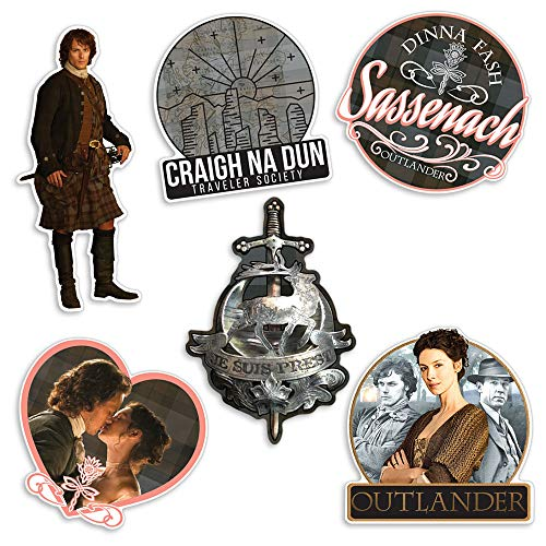 Popfunk Outlander Collectible Stickers with Jamie Fraser, Claire and Sassenach