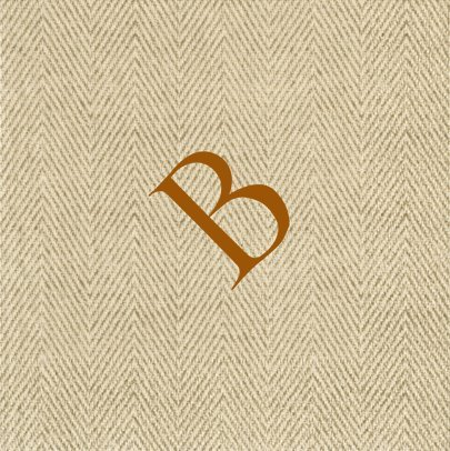 Paper Napkins for Cocktails Monogrammed Personalized with Initial B- Box of 60