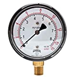Winters PLP Series Steel Dual Scale Low Pressure Gauge with Brass Internals, 0-15