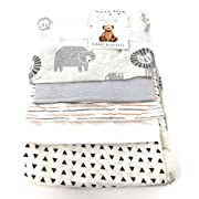 Rene Rofe Safari 5-PK Baby Blankets | 100% Cotton