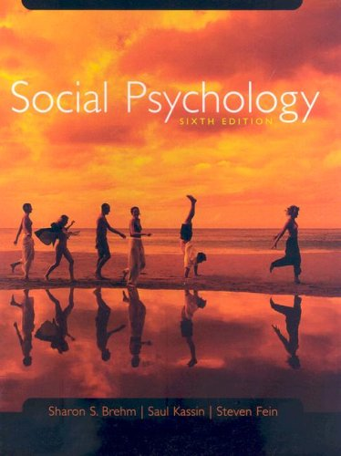 Brehm Social Psychology Sixth Edition At New Used Price