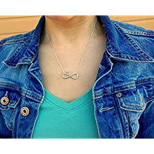 EFYTAL Mom Gifts, 925 Sterling Silver Infinity with Heart Necklace for Mother & Daughter, Mom Necklaces for Women, Best…
