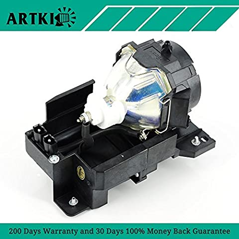 DT00771 Replacement Lamp with Housing for Hitachi Projector CP-X505 CP-X505W CP-X600 CP-X605 CP-X608 (Replacement Lamp Hitachi Dt00771)