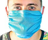 BioBoost Washable Adjustable Antimicrobial Dust Pollen Reusable Mask (Blue)