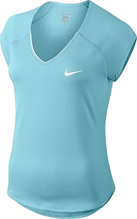 Celda de poder País de origen cristal  NIKE W Nkct Pure Camiseta de Manga Corta de Tenis, Mujer, Azul (Still  Blue/White), XS: Amazon.es: Deportes y aire libre