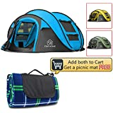 STAR HOME Pop up Tents Family Camping Tents Large Instant Beach Tents in 3 Colors