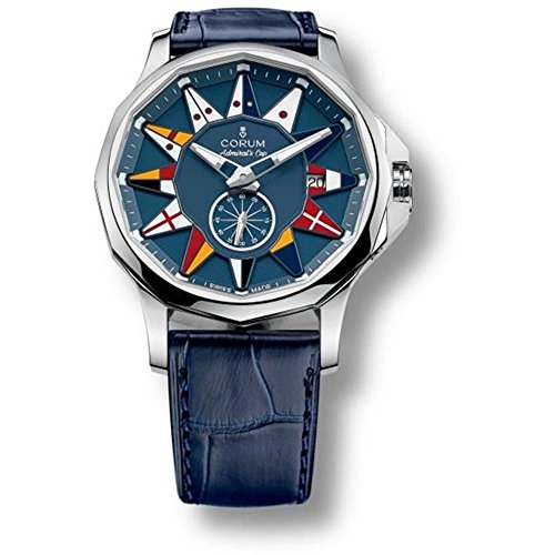 Corum Men's Admirals Cup Legend 42 42mm Blue Alligator Leather Band Automatic Watch 395.101.20/OF03 AB12