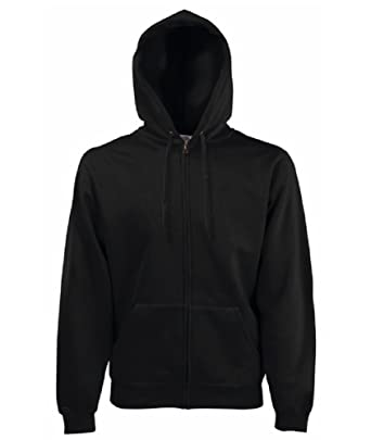 """b080595e9 FRUIT OF THE LOOM FULL ZIP HOODED SWEAT - 9 COLOURS (SMALL 36/38"""""""
