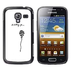 Be Good Phone Accessory // Dura Cáscara cubierta Protectora Caso Carcasa Funda de Protección para Samsung Galaxy Ace 2 I8160 Ace II X S7560M // White Minimalist Quote Sad Balloon