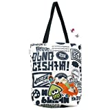Splatoon Tote Bag with '' IKASU Can Badges '' Graphity