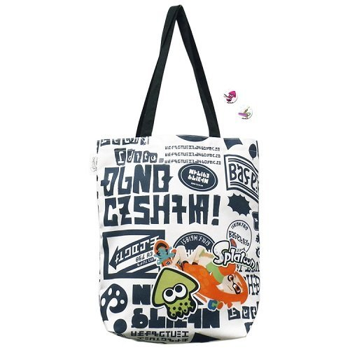 Splatoon Tote Bag with '' IKASU Can Badges '' Graphity by Empty