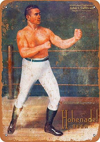 SRongmao 12 x 16 Metal Sign - Vintage Look John Sullivan for Hohenadel Beer