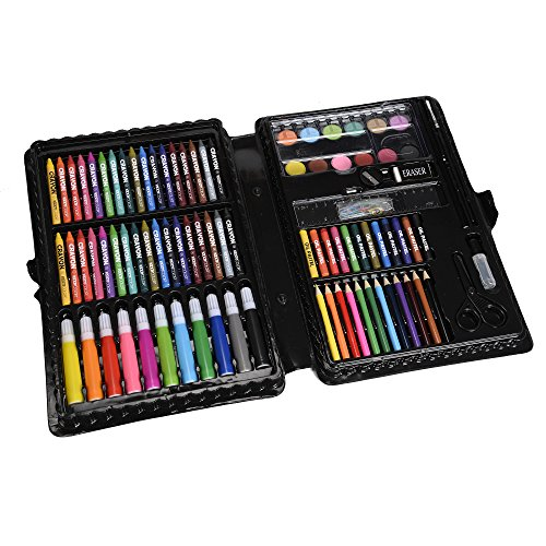 1d67096f8 KIDDYCOLOR 109-Piece Deluxe Art Set for Kids with Plastic Case Light, Great  Gift