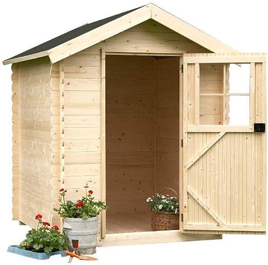 Alpholz Jardín Casa Toby lütt de madera Picea macizas | cabaña ...