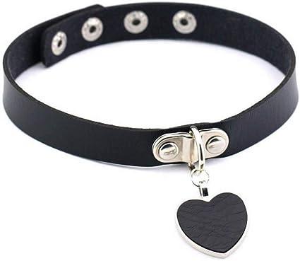 Gothic Collar Punk Necklace Pendant Women Choker Velvet Chain Heart Ring