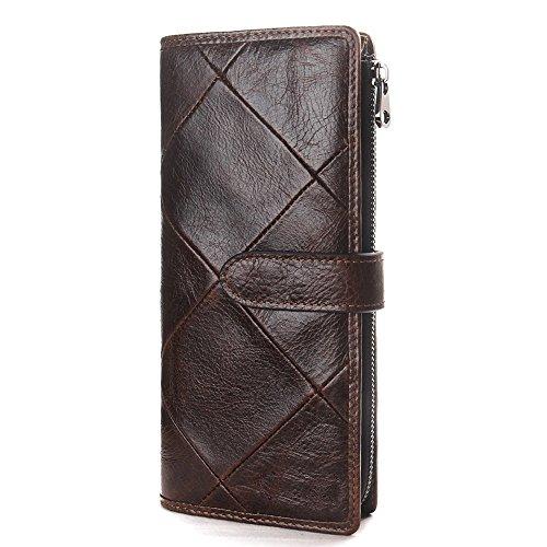casual NHGY Enkephalin buckle wallet bag drawstring Men's leather hand long YxwrqYSZ