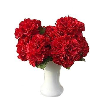 Berühmt Amazon.de: Rocita Künstliche Hortensien Blumen Nelken Strauß #JN_26