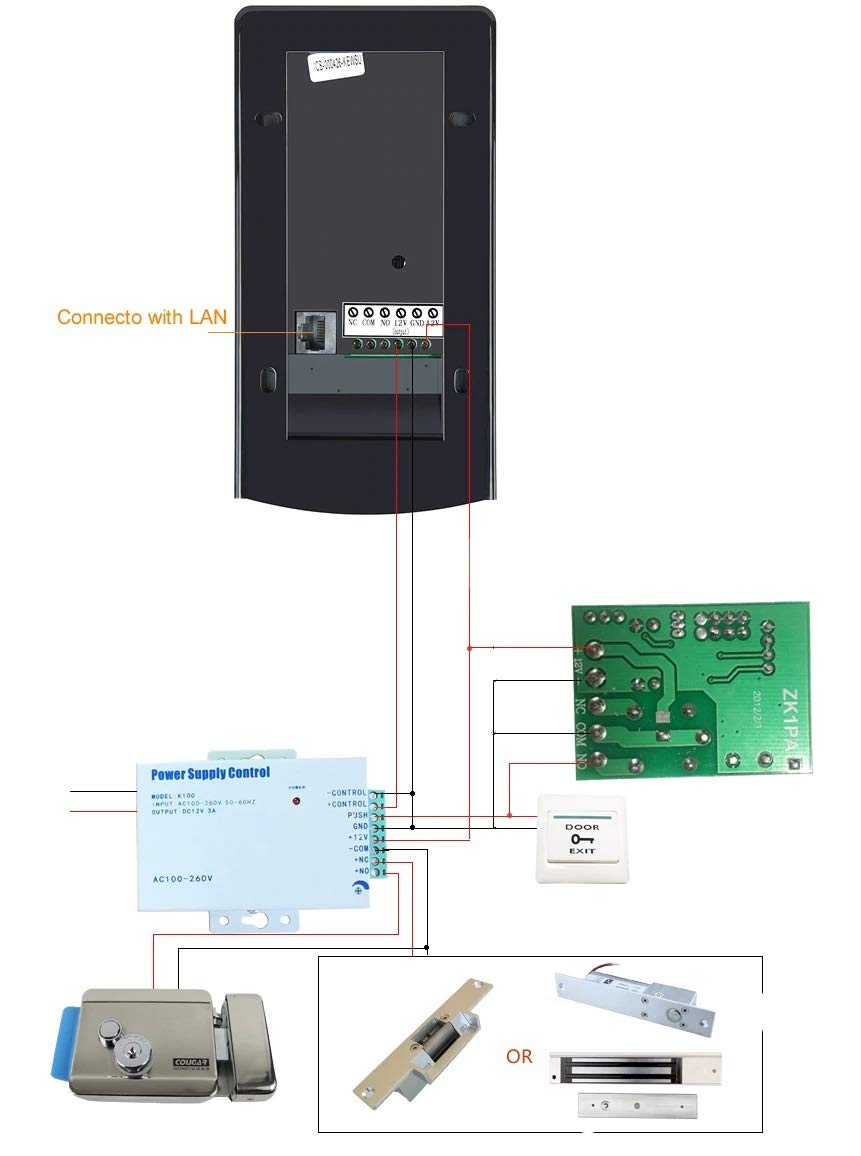 Lock Door With Wifi Wireless Video Intercom Waterproof Knob Touch Alarm Circuit Controlcircuit Diagram Rfid Keypad Doorbell Camera Strike Photo