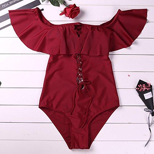 un Red bagno TIANLU bagno costume in set pezzo da da bagno Costume Sexy dimagrante unico l la Costume da donna serie bikini da 4qpwaq1
