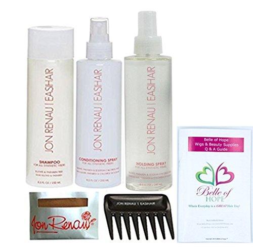 Jon Renau FULL SIZE Synthetic Hair Care Kit  : Belle of Hope