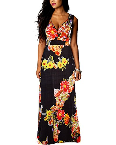 Roiii-Boho-Ladies-Summer-Floral-Party-Evening-Sleeveless-Long-Maxi-Dress-Plus-Size