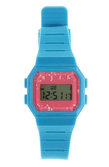 NEFF Reloj de hombre Flava NF0249 diseño digital reloj, talla única (cian/rosa