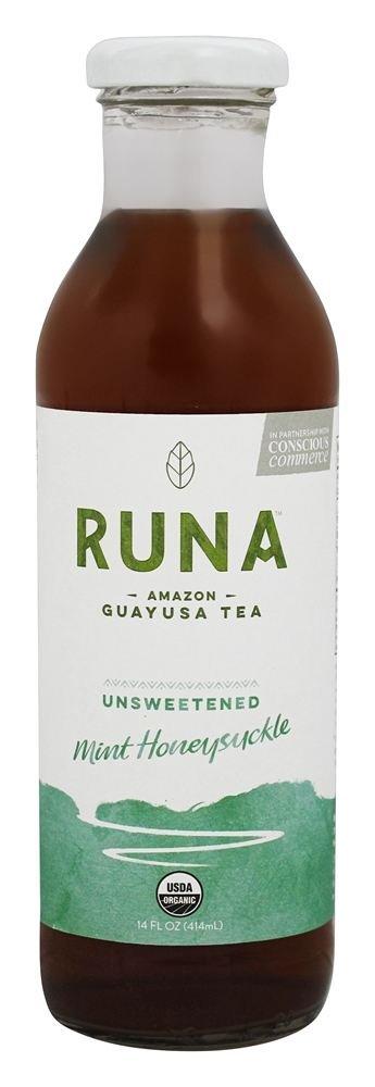 Runa-Unsweetened Mint Honeysuckle Guayusa Tea 14.0 oz (Pack of 12)