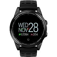 ZZH Rastreador de Fitness, Smart Wristband 2.5D Vidrio Templado Pantalla Colorida Impermeable Multifunción Pulso Podómetro Smartwatch Smart Bracelet_Black
