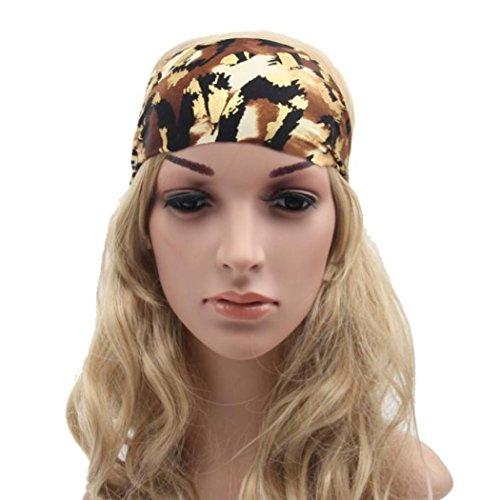 Women Head Wrap Soft Hair Band Lady Rhinestone Headwear Turban Twist Headband (Coffee) - 8